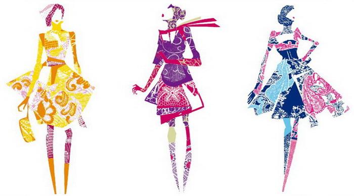 Дизайнерские эскизы одежды.